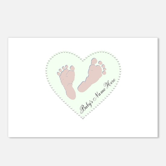 Baby Girl's Name in Heart Postcards (Package of 8)