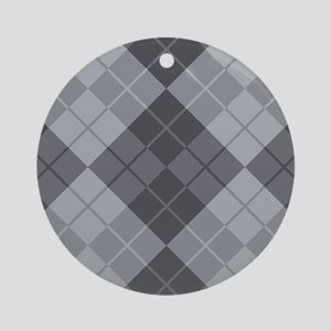 Grey Argyle Ornament (Round)
