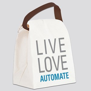 Live Love Automate Canvas Lunch Bag