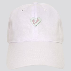 Baby Girl's Name in Heart Cap