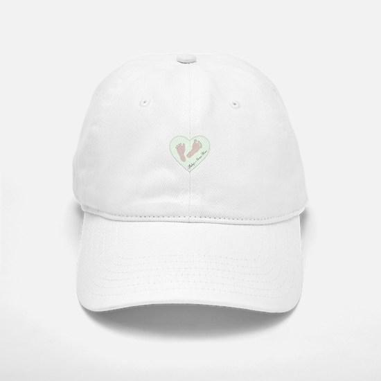 Baby Girl's Name in Heart Baseball Baseball Cap