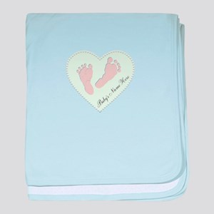 Baby Girl's Name in Heart baby blanket