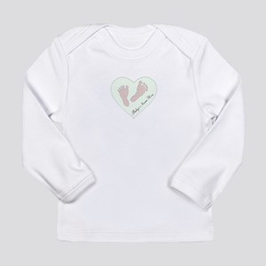 Baby Girl's Name in Hea Long Sleeve Infant T-Shirt