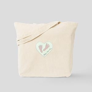 Baby Girl's Name in Heart Tote Bag