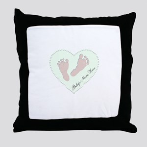 Baby Boys Name in Heart Throw Pillow