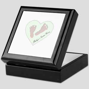 Baby Boys Name in Heart Keepsake Box