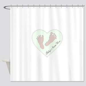 Baby Boys Name in Heart Shower Curtain