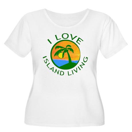 I Love Island Living Women's Plus Size Scoop Neck