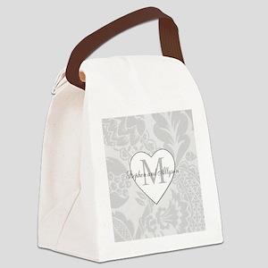 Romantic Monogram Canvas Lunch Bag
