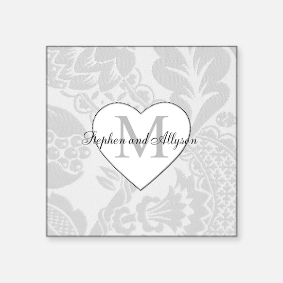 Romantic Monogram Sticker