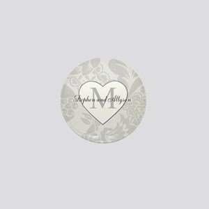Romantic Monogram Mini Button