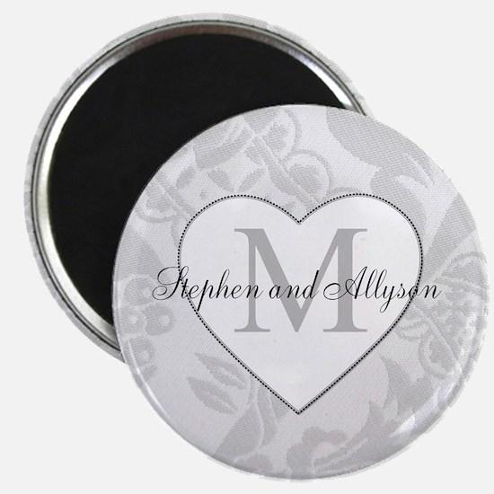 Romantic Monogram Magnets