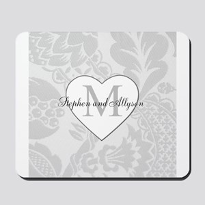 Romantic Monogram Mousepad