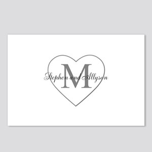 Romantic Monogram Postcards (Package of 8)