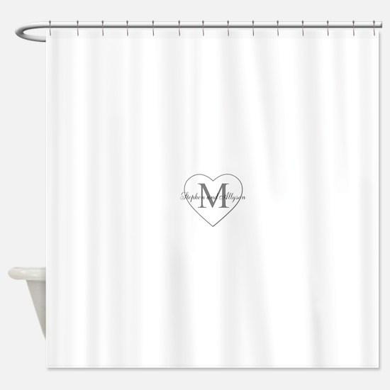 Romantic Monogram Shower Curtain
