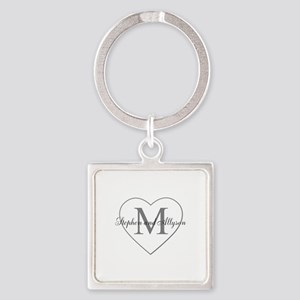 Romantic Monogram Keychains