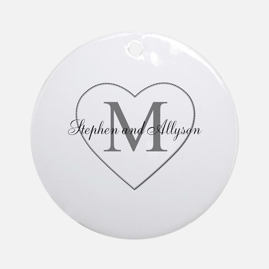 Romantic Monogram Ornament (Round)