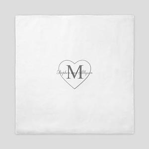 Romantic Monogram Queen Duvet
