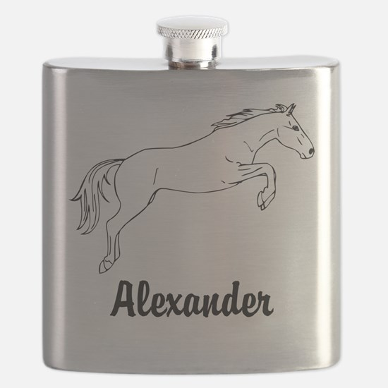 Personalized Horse Flask