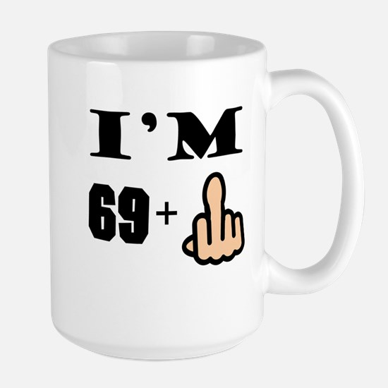 Middle Finger 70th Birthday Mugs