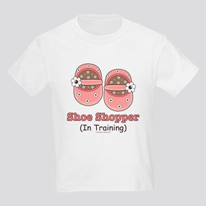 Pink Brown Baby Shoes Kids Light T-Shirt