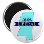 "2.25"" Magnet (10ct) True Blue Mississippi LIBERAL"