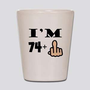 Middle Finger 75th Birthday Shot Glass