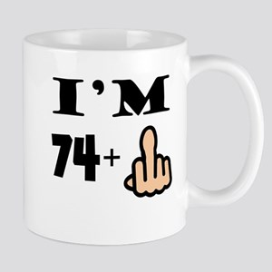 73687d106df 75 Year Old Birthday. Middle Finger 75th Birthday Mugs
