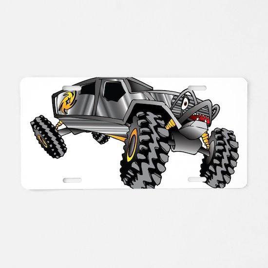 Cool Monster trucks Aluminum License Plate