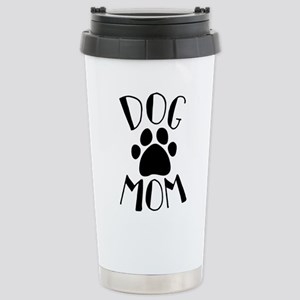 Dog Mom Paw 16 oz Stainless Steel Travel Mug