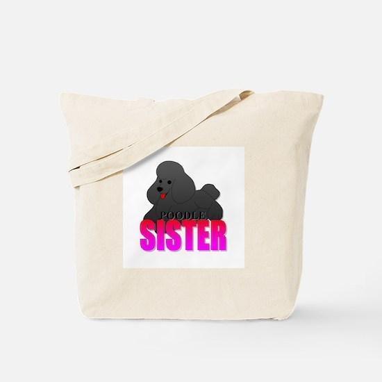 Black Poodle Sister Tote Bag