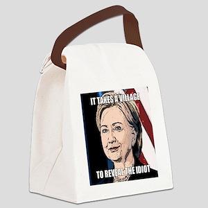 Village Idiot Hillary Canvas Lunch Bag