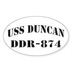 USS DUNCAN Sticker (Oval)