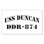 USS DUNCAN Sticker (Rectangle)
