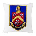 USS DUNCAN Woven Throw Pillow