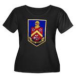 USS DUNC Women's Plus Size Scoop Neck Dark T-Shirt