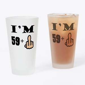 Middle Finger 60th Birthday Drinking Glass