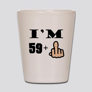 Middle Finger 60th Birthday Shot Glass