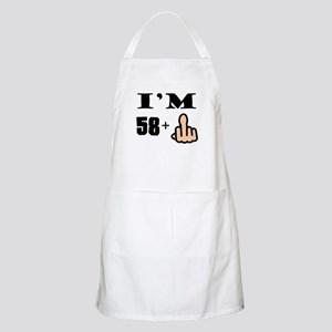 Middle Finger 59th Birthday Apron