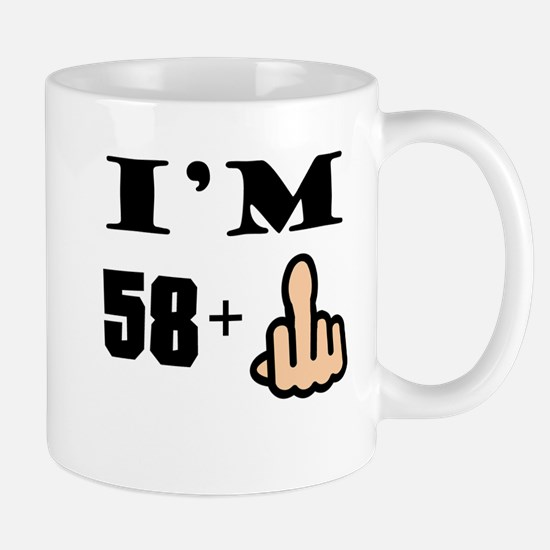 Middle Finger 59th Birthday Mugs