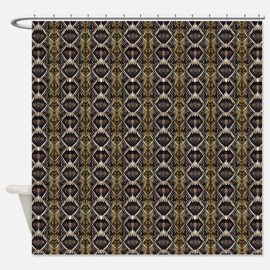 Diamondback Rattlesnake Shower Curtain