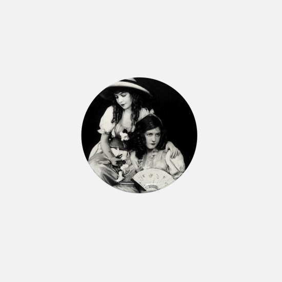 lillian dorothy gish sisters black whi Mini Button