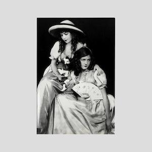 lillian dorothy gish sisters blac Rectangle Magnet