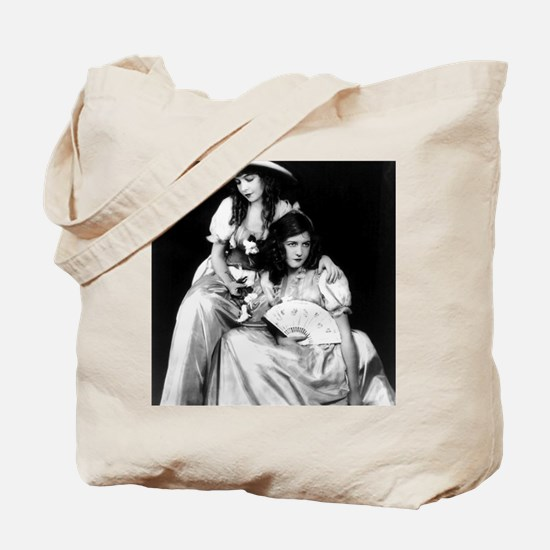 lillian dorothy gish sisters black white  Tote Bag