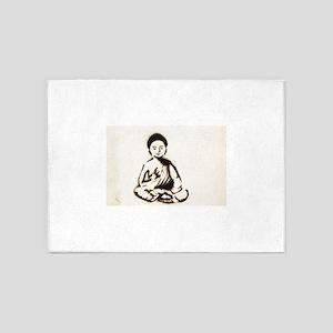 Buddha street art style 5'x7'Area Rug