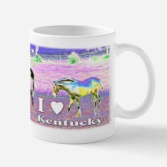 I heart Kentucky ~ horse art Mug