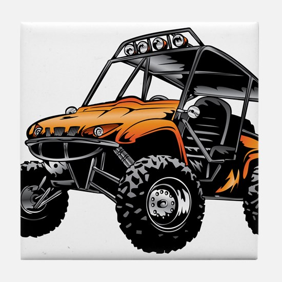 Cute Offroad Tile Coaster