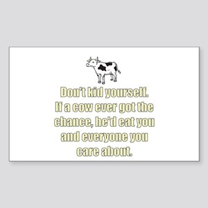 Evil Cow Rectangle Sticker