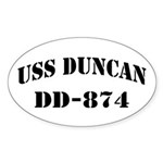 USS DUNCAN Sticker (Oval)