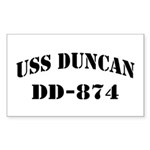 USS DUNCAN Sticker (Rectangle)